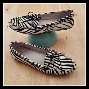 Sperry Zebra Print Pony Hair Loafers